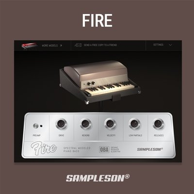 Sampleson - Fire Bass Piano VST Plugin