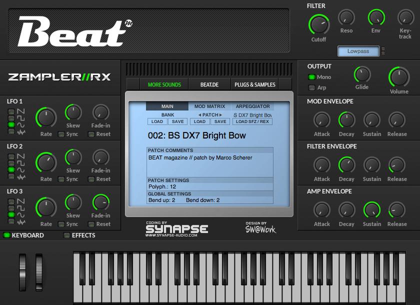 Zampler RX 2.5 Beat Magazine