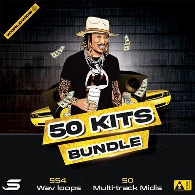 50 Kits Bundle - Wav Midi Loops