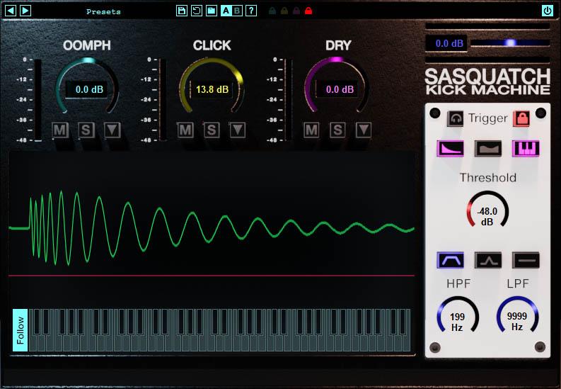 Sasquatch 2 kick drum enhancement plug-in
