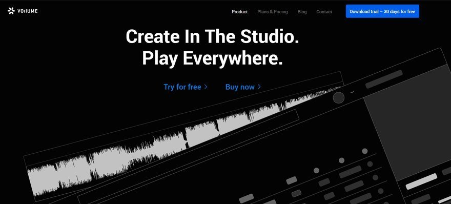 Vollume Music Producers Collaboration Website