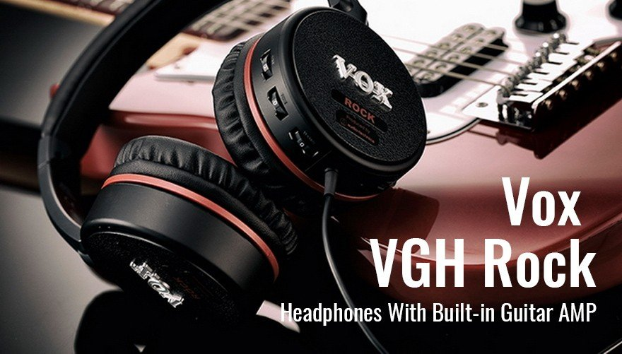 Vox VGH Rock Headphones With Built-in Guitar AMP