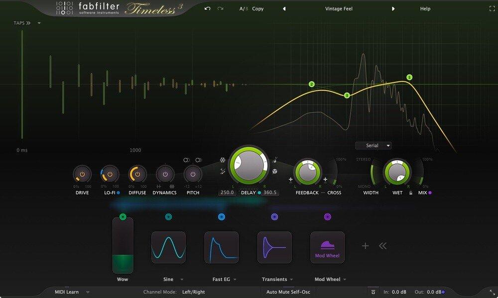 Fabfilter Timeless 3 VST GUI