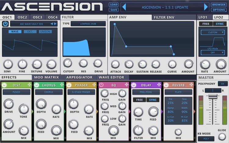 Ascension VST Synthesizer Plugin