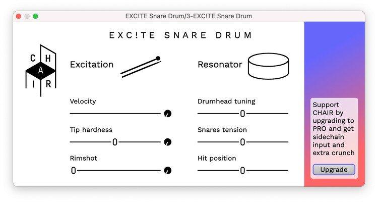 EXC!TE Snare Drum Free VST PLugin