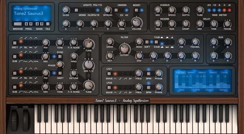 Tone2 Saurus 3 Software Synthesizer VST Plugin